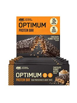 Batoane proteice Optimum Nutrition Bar Chocolate Peanut Butter 10x60g de la Optimum Nutrition
