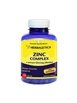 Supliment alimentar Herbagetica Zinc complex 120 capsule de la Herbagetica