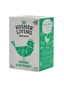 Ceai moringa si menta Higher Living bio 15 dz, 22 g