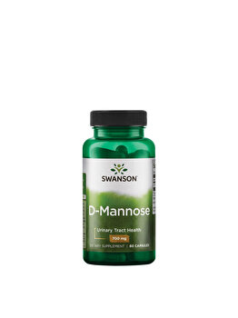 Swanson D-Mannose (D-Manoza), 700 mg, 60 Capsule Swanson