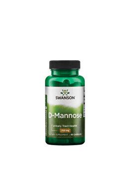 Swanson D-Mannose (D-Manoza), 700 mg, 60 Capsule de la Swanson