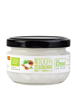 Ulei de cocos virgin Obio raw bio, 100 ml de la Obio