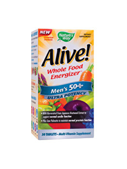 Supliment alimentar Nature's Way by Secom Alive! Men???s 50+ Ultra 30 tablete filmate Nature's Way by Secom