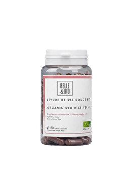 Belle&Bio Drojdie de orez rosu Bio, Red yeast rice BIO, 120 capsule Belle&Bio