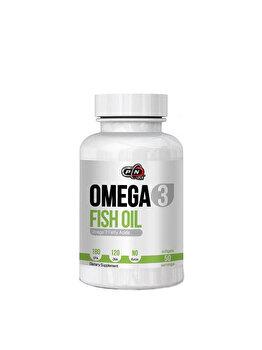 Pure Nutrition USA Omega 3, 1000mg, 100 Gelule, 180 EPA si 120 DHA, Ulei de peste Pure Nutrition USA