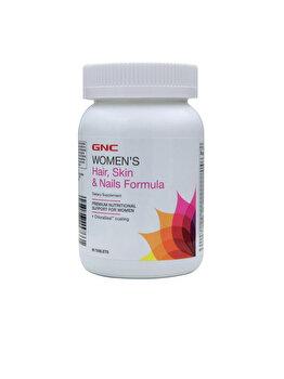 Supliment Alimentar GNC Women's Hair, Skin, Nails, Formula pentru Par, Piele si Unghii, 90 tb de la GNC