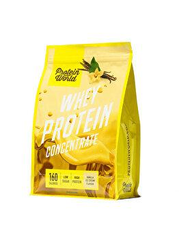 Pudra proteica concentrata 100% World Whey Protein Blend Vanilla Ice Cream High protein fara zahar, 520 g Protein World