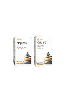 Calciu D3 + Magneziu (formule citrat) Alevia 30+30 comprimate