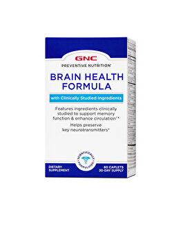Supliment Alimentar GNC Preventive® Nutrition Brain Health, Formula Pentru Sanatatea Sistemului Nervos, 60 tb GNC