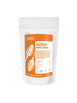 Baobab pulbere Dragon Superfoods raw bio, 100 g de la Dragon Superfoods