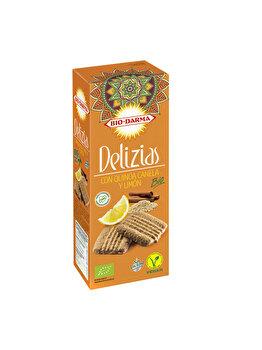 Biscuiti din ovaz Bio Drama cu quinoa scortisoara si lamaie bio, 125 g