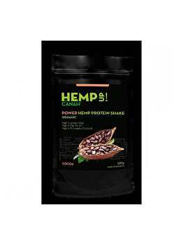 Power shake proteic de canepa si cacao eco 300g de la Canah