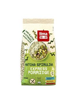 Porridge express Lima cu matcha si spirulina bio fara gluten, 350 g de la Lima