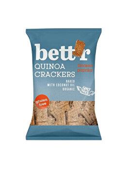 Crackers cu quinoa si boia Bettr fara gluten bio, 100 g de la Bettr