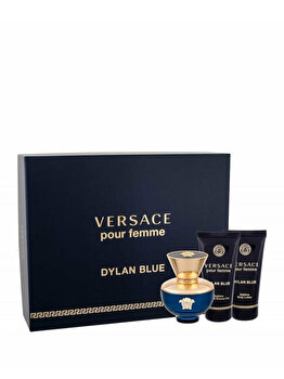 Imagine Set Cadou Versace Dylan Blue apa De Parfum 50 Ml Gel Dus