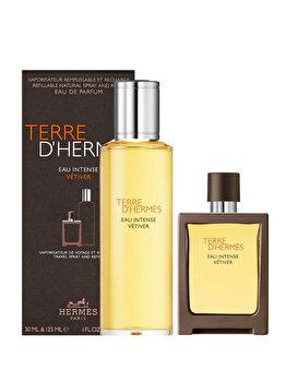Set cadou Hermes Terre D'Hermes Eau Intense Vetiver (Apa de parfum 30 ml + Apa de parfum 125 ml Reincarcabil), pentru barbati imagine produs
