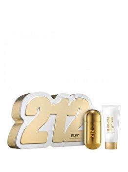 Set cadou Carolina Herrera 212 VIP (Apa de parfum 50 ml + Lotiune de corp 75 ml), pentru femei imagine produs
