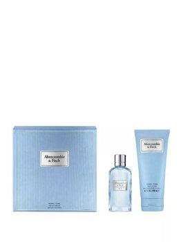 Set cadou Abercrombie & Fitch First Instinct Blue (Apa de parfum 50 ml + Lotiune de corp 200 ml), pentru femei imagine produs