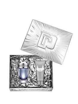 Set cadou Paco Rabanne Invictus (Apa de toaleta 50 ml + Gel de dus 100 ml), pentru barbati imagine produs