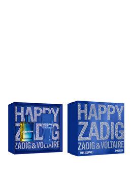 Set cadou Zadig & Voltaire This is Love (Apa de toaleta 50 ml + Gel de dus 50 ml), pentru barbati imagine produs