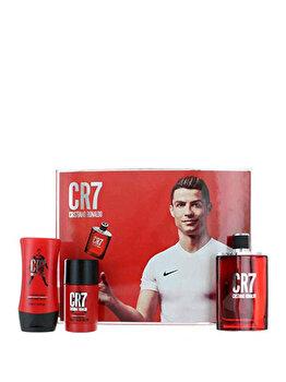Set cadou Christiano Ronaldo CR7 (Apa de toaleta 100 ml + Deostick 75 ml + After shave balsam 100 ml), pentru barbati imagine produs