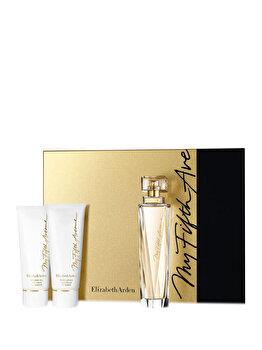 Set cadou Elizabeth Arden My 5TH Avenue (Apa de parfum 100 ml + Lotiune de corp 50 ml + Gel de dus 50 ml), pentru femei imagine produs