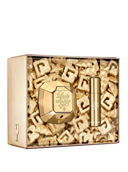 Set cadou Paco Rabanne Lady Million (Apa de parfum 80 ml + Apa de parfum 10 ml), pentru femei imagine produs