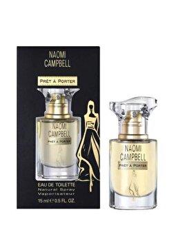 Set cadou Naomi Campbell Pret a Porter (Apa de toaleta 15 ml + Geanta de cosmetice), pentru femei poza