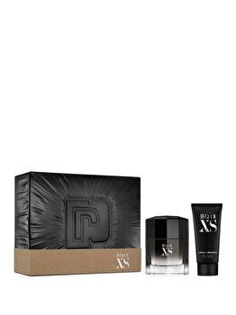 Set cadou Paco Rabanne Black XS (Apa de toaleta 100 ml + Gel de dus 100 ml), pentru barbati imagine produs