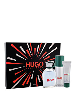Set cadou Hugo Boss Hugo Man (Apa de toaleta 125 ml + Deospray 150 ml + Gel de dus 50 ml), pentru barbati imagine produs