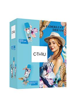 Set cadou C-THRU Wanderlust Dream (Spray de corp 75 ml + Deospray 150 ml), pentru femei imagine produs