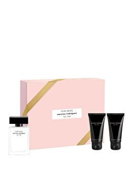 Set cadou Narciso Rodriguez For Her Pure Musc (Apa de parfum 50 ml + Lotiune de corp 50 ml + Gel de dus 50 ml), pentru femei imagine