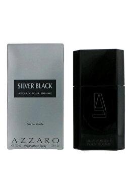 Apa de toaleta Azzaro Silver Black, 100 ml, pentru barbati poza