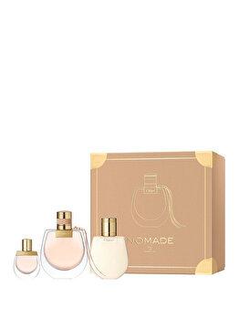 Set cadou Chloe Nomade (Apa de parfum 75 ml + Apa de parfum 5 ml + Lotiune de corp 100 ml), pentru femei imagine