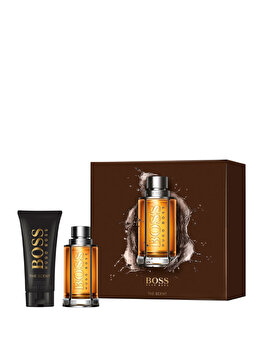 Set cadou Hugo Boss The Scent (Apa de toaleta 50 ml + Gel de dus 100 ml), pentru barbati poza