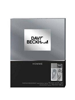 Set cadou David Beckham Homme (Deospray natural 75 ml + Deospray 150 ml), pentru barbati imagine produs