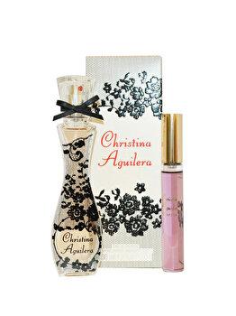 Set cadou Christina Aguilera Signature (Apa de parfum 30 ml + Apa de parfum Roll-On Violet Noir 10 ml), pentru femei imagine produs