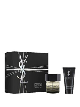 Set cadou Yves Saint Laurent La Nuit de L'Homme (Apa de toaleta 60 ml + Gel de dus 50 ml), pentru barbati imagine produs