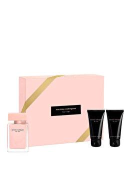 Set cadou Narciso Rodriguez For Her (Apa de parfum 50 ml + Lotiune de corp 50 ml + Gel de dus 50 ml), pentru femei imagine