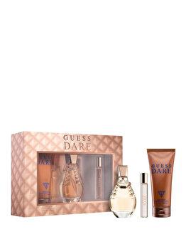 Set cadou Guess Dare (Apa de toaleta 100 ml + Apa de toaleta 15 ml + Lotiune de corp 200 ml), pentru femei imagine produs