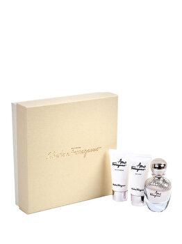Set cadou Salvatore Ferragamo Amo Ferragamo (Apa de parfum 50 ml + Gel de dus 50 ml + Lotiune de corp 50 ml), pentru femei poza