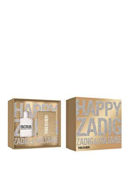 Set cadou Zadig & Voltaire This is Her (Apa de parfum 50 ml + Geanta de cosmetice), pentru femei imagine produs