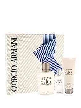 Set cadou Giorgio Armani Acqua di Gio Pour Homme (Apa de toaleta 100 ml + Apa de toaleta 15 ml + Gel de dus 75 ml), pentru barbati imagine produs