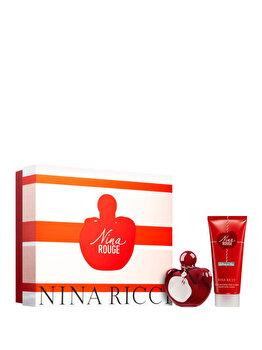 Set cadou Nina Ricci Nina Rouge (Apa de toaleta 80 ml + Lotiune de corp 100 ml), pentru femei imagine produs