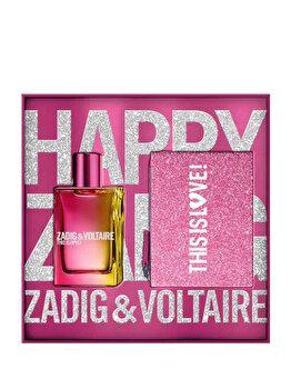 Set cadou Zadig & Voltaire This is Love (Apa de parfum 50 ml + Geanta cosmetice), pentru femei imagine produs