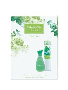 Set cadou Chanson Original (Apa de toaleta 100 ml + Deospray 200 ml), pentru femei imagine produs