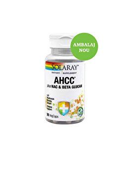 Supliment alimentar Solaray by Secom AHCC plus NAC & Beta Glucan 30 capsule vegetale de la Solaray by Secom