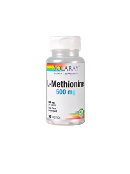 Supliment alimentar Solaray by Secom L-Methionine 500mg 30 capsule vegetale de la Solaray by Secom