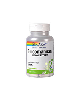 Supliment alimentar Solaray by Secom Glucomannan 600mg 100 capsule vegetale