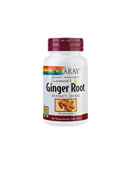 Supliment alimentar Solaray by Secom Ginger Root (Ghimbir) 60 capsule vegetale de la Solaray by Secom